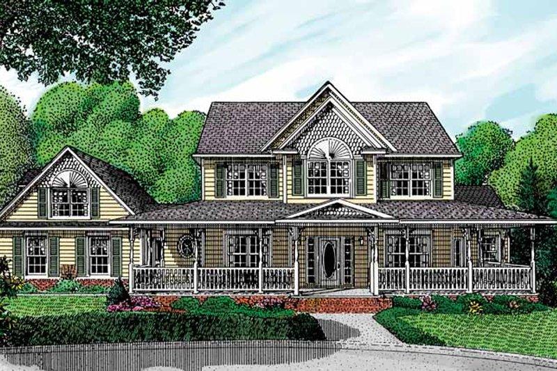 House Plan Design - Victorian Exterior - Front Elevation Plan #11-259