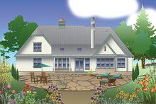 Country Exterior - Rear Elevation Plan #929-985