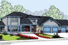 Colonial Exterior - Front Elevation Plan #60-1006