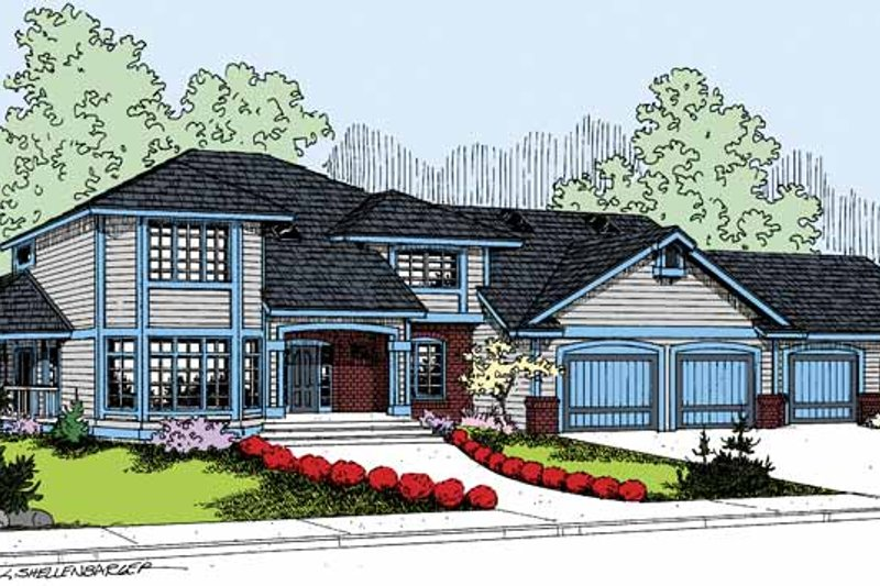 Colonial Exterior - Front Elevation Plan #60-1006 - Houseplans.com