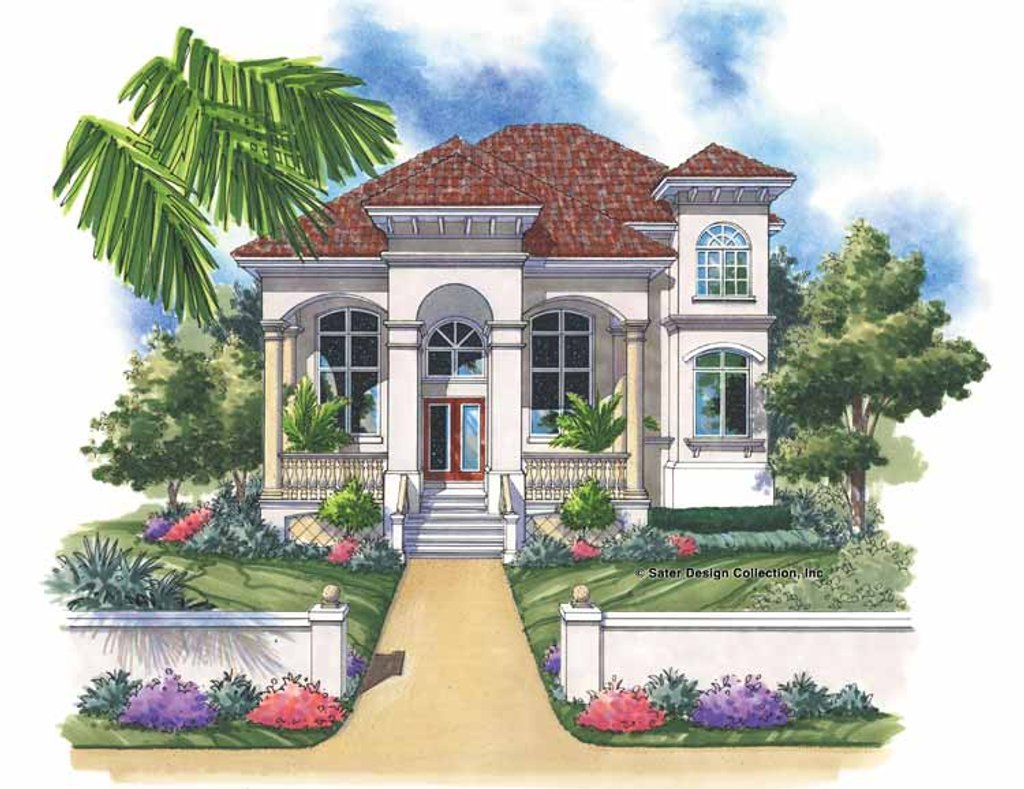 Mediterranean Style House Plan  3 Beds 2 Baths 2657 Sq/Ft Plan 930143  Dreamhomesource.com