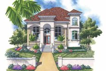 Mediterranean Exterior - Front Elevation Plan #930-143