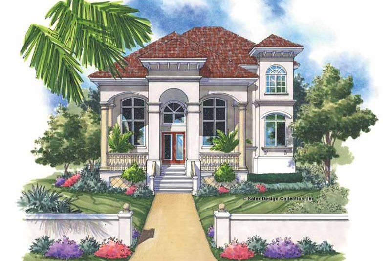 Mediterranean Exterior - Front Elevation Plan #930-143 - Houseplans.com