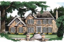 Colonial Exterior - Front Elevation Plan #927-48