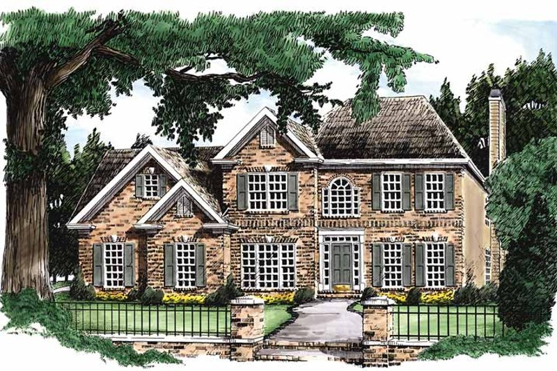 House Design - Colonial Exterior - Front Elevation Plan #927-48