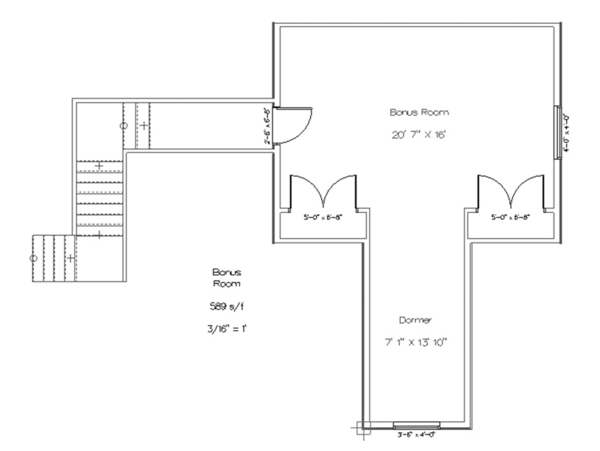 Ranch Floor Plan - Other Floor Plan Plan #1060-6