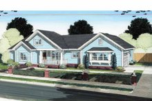 House Plan Design - Traditional Exterior - Front Elevation Plan #513-2130