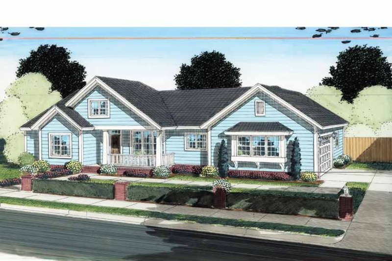Traditional Exterior - Front Elevation Plan #513-2130