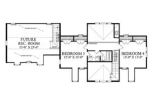 Country Floor Plan - Upper Floor Plan Plan #137-366