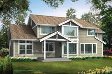 Architectural House Design - Craftsman Exterior - Rear Elevation Plan #132-234