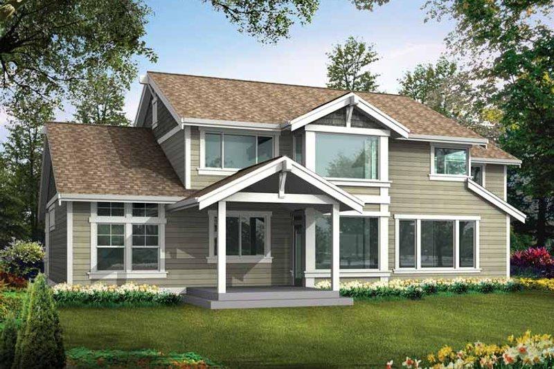 Craftsman Exterior - Rear Elevation Plan #132-234 - Houseplans.com