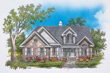 Dream House Plan - Traditional Exterior - Front Elevation Plan #929-384