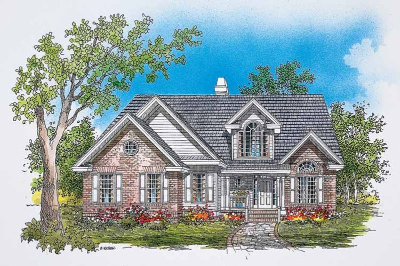 House Plan Design - Traditional Exterior - Front Elevation Plan #929-384