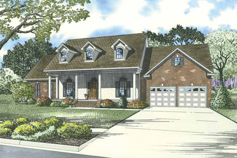 Dream House Plan - Country Exterior - Front Elevation Plan #17-3277
