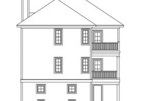 Country Exterior - Rear Elevation Plan #991-7
