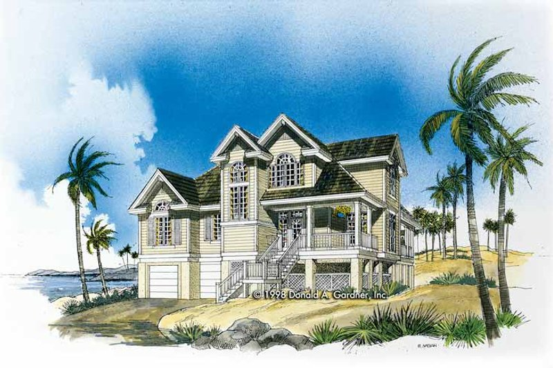 Country Exterior - Front Elevation Plan #929-370