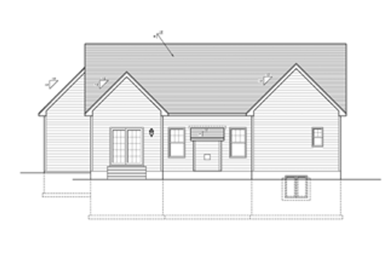 Ranch Exterior - Rear Elevation Plan #1010-29 - Houseplans.com