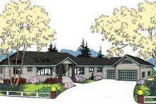 Dream House Plan - Colonial Exterior - Front Elevation Plan #60-1002