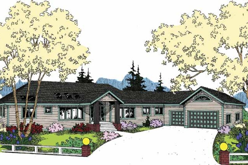 Colonial Exterior - Front Elevation Plan #60-1002