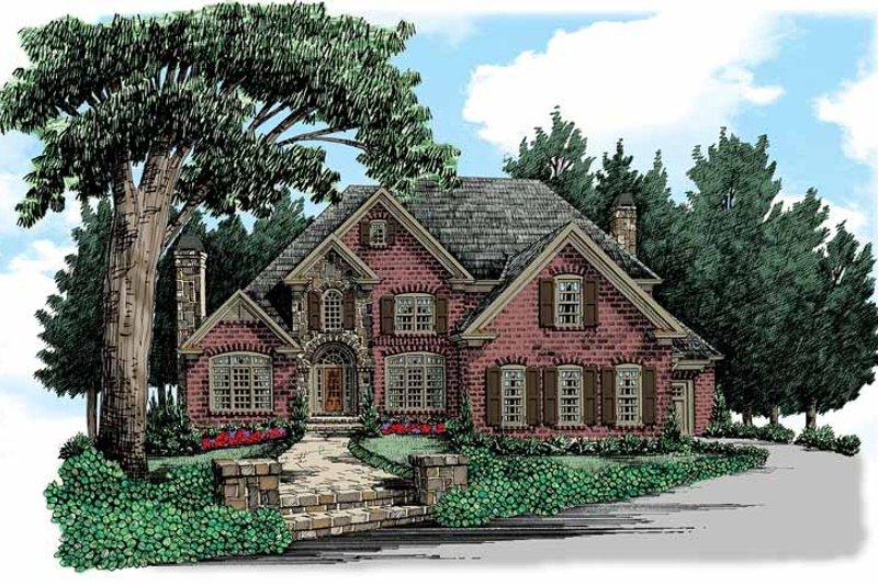 Home Plan - European Exterior - Front Elevation Plan #927-359