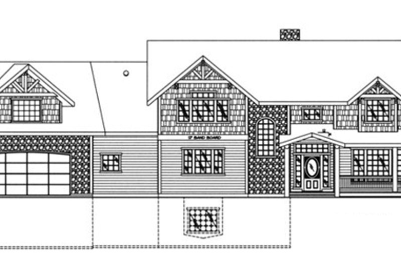 Traditional Exterior - Front Elevation Plan #117-830 - Houseplans.com