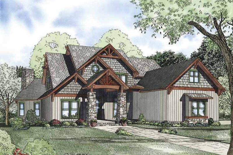 Craftsman Exterior - Front Elevation Plan #17-3323