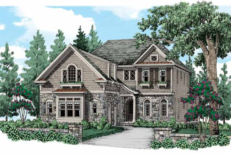 House Plan Design - Traditional Exterior - Front Elevation Plan #927-540