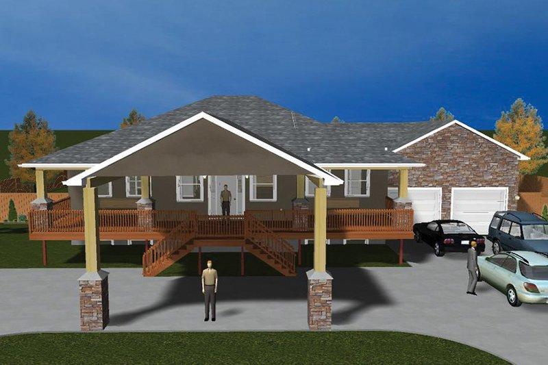 Ranch Exterior - Front Elevation Plan #1060-21 - Houseplans.com