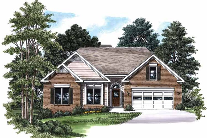 Country Style House Plan - 3 Beds 2 Baths 1342 Sq/Ft Plan #927-590 Exterior - Front Elevation