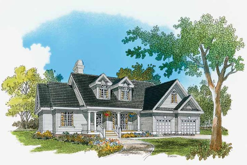 Country Exterior - Front Elevation Plan #929-366