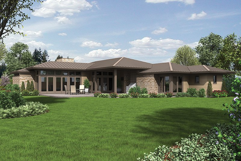 Contemporary Exterior - Rear Elevation Plan #48-916 - Houseplans.com