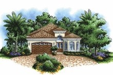Mediterranean Exterior - Front Elevation Plan #1017-82