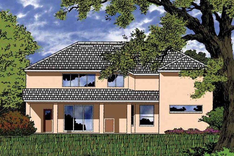 Country Exterior - Rear Elevation Plan #1015-52 - Houseplans.com