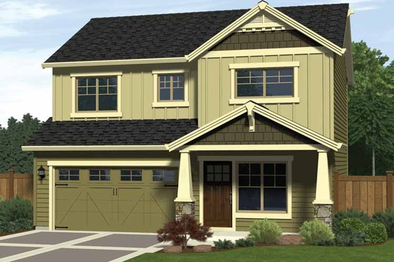 Craftsman Style House Plan - 3 Beds 2.5 Baths 1470 Sq/Ft Plan #943-11