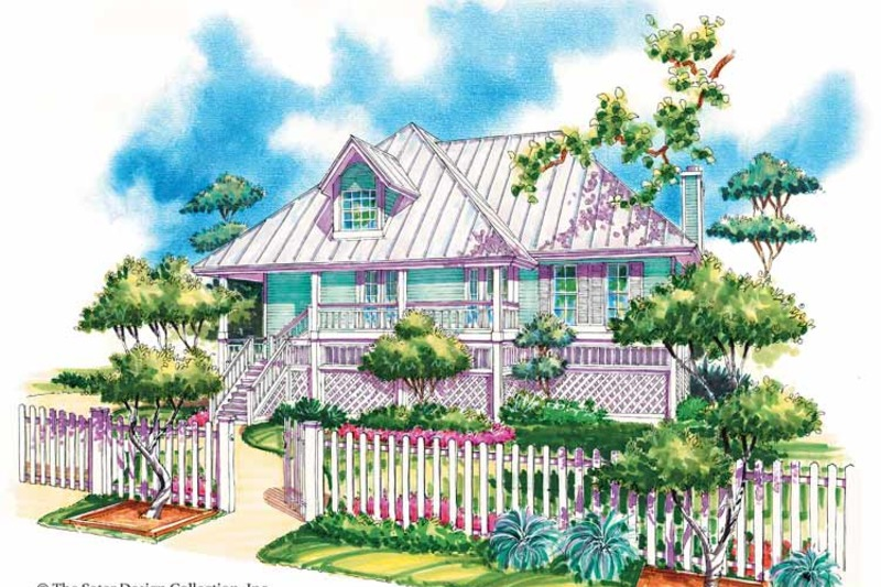 Country Exterior - Front Elevation Plan #930-31