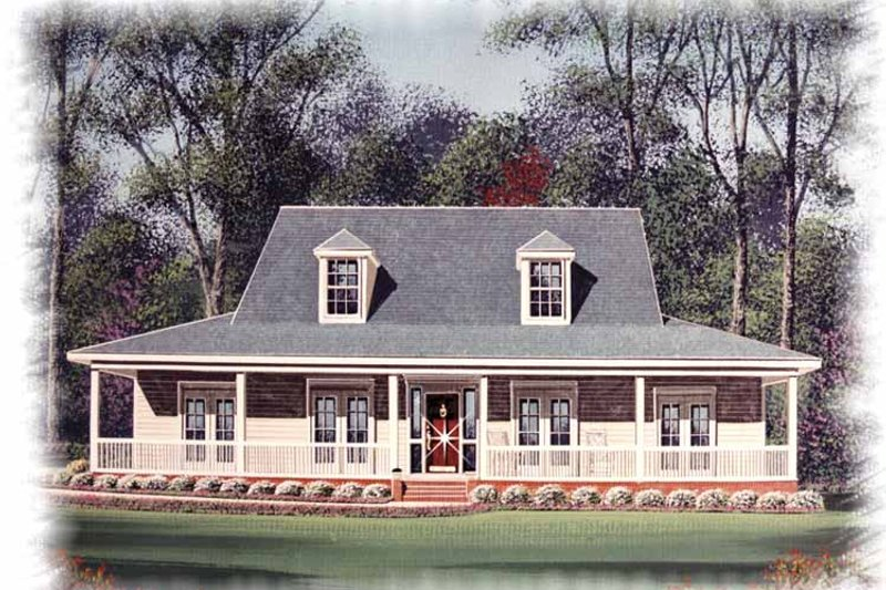 Country Exterior - Front Elevation Plan #15-330 - Houseplans.com