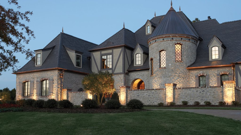 European style house plan 7 beds 7 5 baths 8933 sq ft for Castle type house plans
