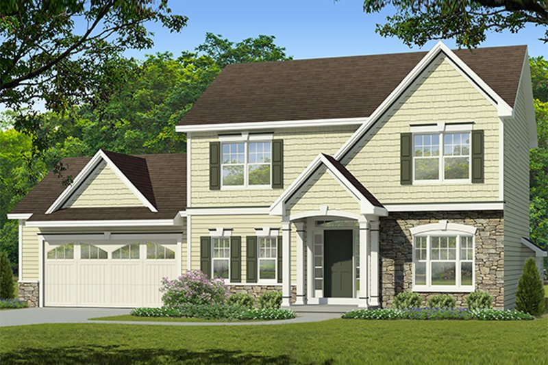 Traditional Exterior - Front Elevation Plan #1010-201 - Houseplans.com