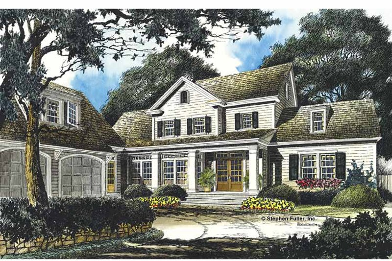 Country Exterior - Front Elevation Plan #429-357 - Houseplans.com