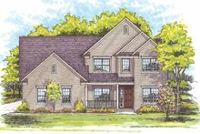 Traditional Exterior - Front Elevation Plan #435-14