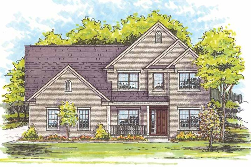 Traditional Exterior - Front Elevation Plan #435-14 - Houseplans.com