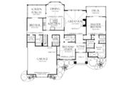 Craftsman Style House Plan - 3 Beds 3 Baths 1973 Sq/Ft Plan #929-935 Floor Plan - Main Floor Plan