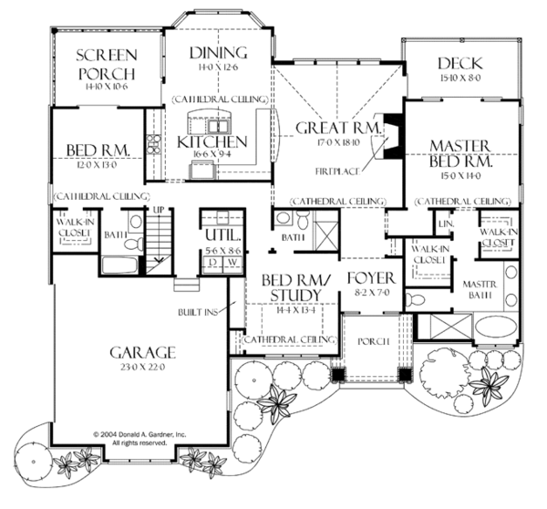 Craftsman Floor Plan - Main Floor Plan Plan #929-935