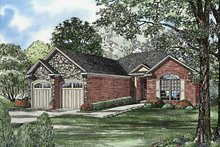 Country Exterior - Front Elevation Plan #17-3228