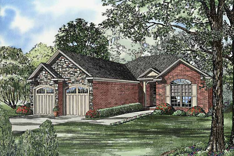 Architectural House Design - Country Exterior - Front Elevation Plan #17-3228