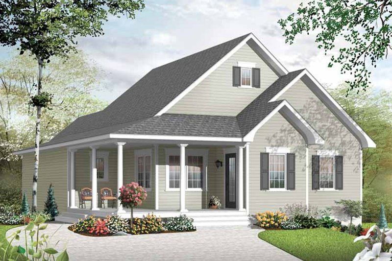 Country Exterior - Front Elevation Plan #23-2517 - Houseplans.com