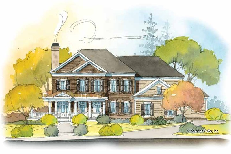 Colonial Exterior - Front Elevation Plan #429-408