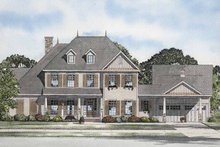 Architectural House Design - Colonial Exterior - Front Elevation Plan #17-2860