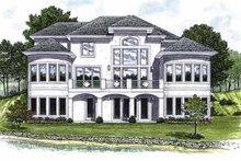 Architectural House Design - Mediterranean Exterior - Rear Elevation Plan #453-488