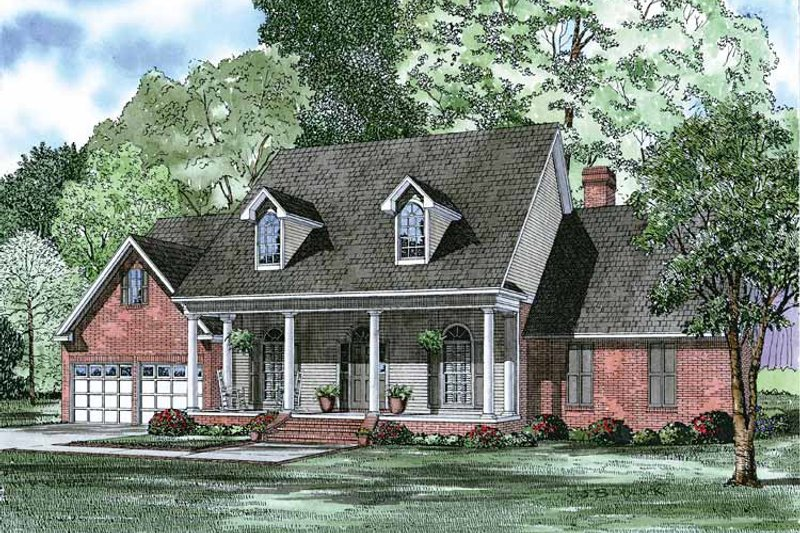 Architectural House Design - Country Exterior - Front Elevation Plan #17-2785